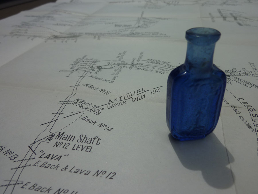 Underground mine plan from the Garden Gully One of Reef, Bendigo and a chinese bottle